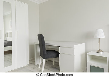 Small working space in bedroom - Picture of small working...