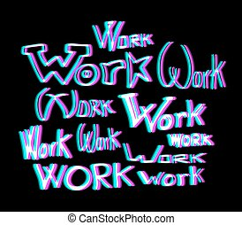 abstract work message - Creative design of abstract work...
