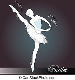 ballet dancer, hand drawn , vector illustration