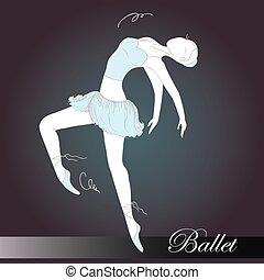 Ballet dancer, vector
