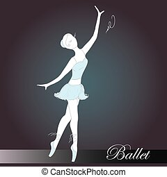 ballet dancer, hand drawn, vector illustration