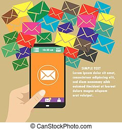 Vector mobile app -email marketing and promotion - Vector...