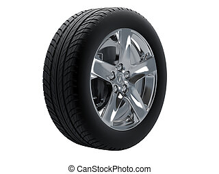 Tires isolated on white background. High resolution image.
