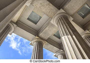 Set above the columns - Set above the columns of the old...