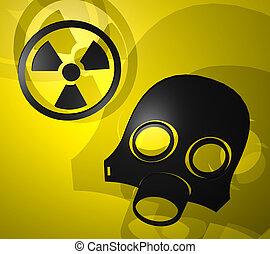 radiación, símbolo,