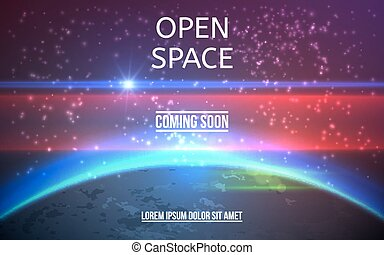 Abstract Realistic Space Background. Vector