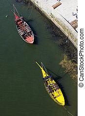 Boats in Porto, Portugal