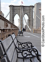 Bench on the brooklyn bridge