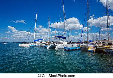 Yacht marine in Cienfuegos, Cuba