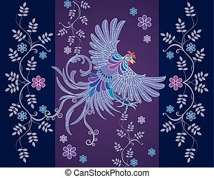 Vector abstract textile designs - batik design, shape...