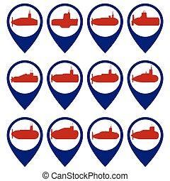 Submarinos, insignias
