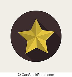 star shape design - star shape concept over seal stamp...