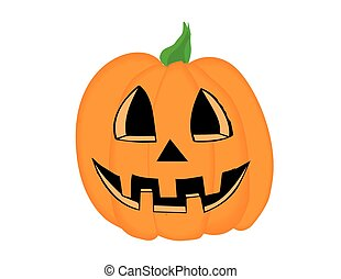 Happy Jack O Lantern Pumpkin Vector