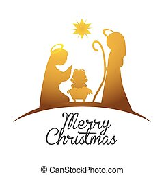 Merry Christmas design - Merry Christmas concept with holy...