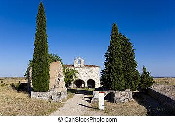 Ruins and chapel of Clunia, Pentilde;alba de Castro, Burgos,...