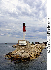 Lighthouse entrance to the port of Bandol