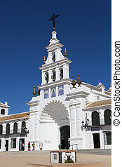 The church Nuestra Senora del Rocio in Rocio, Huelva,...