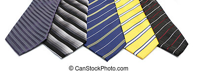 Neck Ties - A background of various stripped neck ties