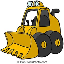 Mini Loader - This illustration depicts a cartoon version of...