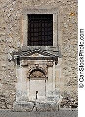 Fountain in the monastery of Santa Maria la Real de Huelgas, Burgos, Castilla y Leon, Spain