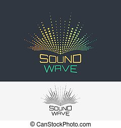 Sound wave - Sound Wave, vector logo design template...