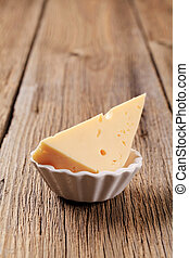 Semi-hard cheese - Wedge of semi hard cheese