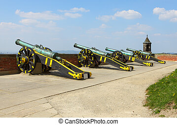 Cannons At The Fortress Koenigstein in Germany