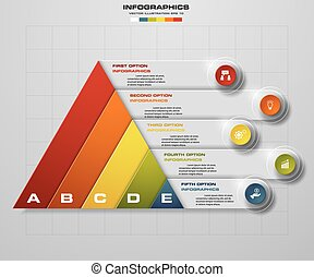 Abstract pyramid shape 5 steps. - Abstract pyramid shape...