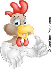 Cartoon Chicken Character