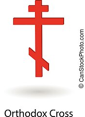 Orthodox cross vector illustration - Red orthodox cross...