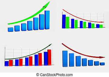 Financial graphics diagram for work business