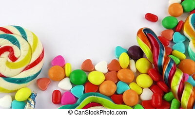 Sweet Candy Jelly Bonbon Lollipop Mixed of Snack Sugar Food