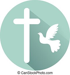 Holy Spirit conception flat design icon vector eps 10