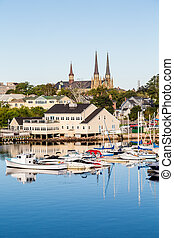 Fishing Boats and Church in Charlottetown - Small fishing...