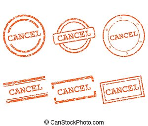 Cancel stamps