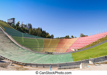 The Bergisel Ski Jump stadium, known as Bergisel Schanze,...