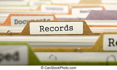 Records Concept on Folder Register. - Records Concept on...
