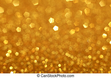 Golden Glittering Christmas Lights - Golden glitter light...