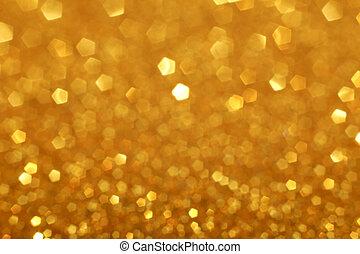 Golden Glittering Christmas Lights - Golden glitter light...