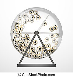 lottery balls - Vector illustration background lottery balls...