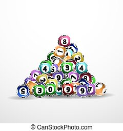 lottery balls - Vector illustration background lottery...