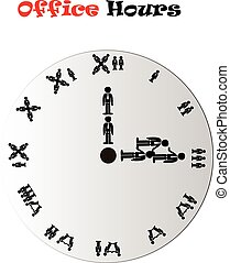 Afternoon office hours conceptual clock - Office hours clock...