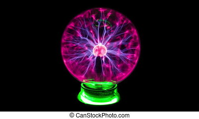 Plasma Ball And Lightning