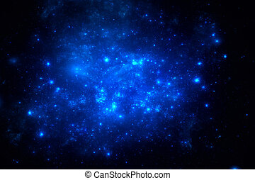 Dark deep space starfield