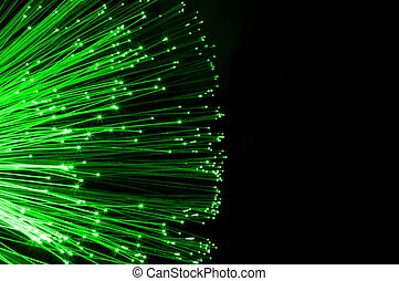 fiber optics cable from modern computer comminication...