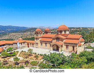 christian orthodox monastery in Malevi, Peloponnese, Greece...