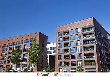 Hafencity in Hamburg, Germany - Modern appartment buildings...