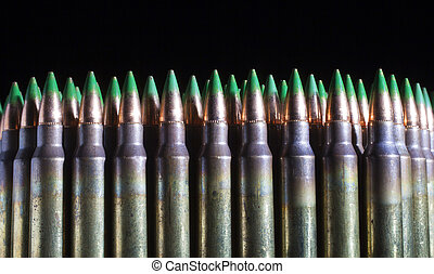Lots of green tipped ammunition - Rifle cartridges with a...
