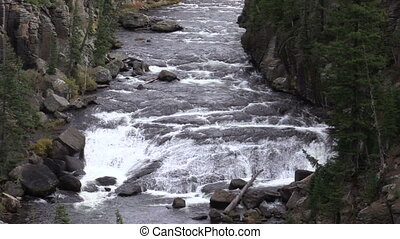 Lewis River Canyon - scenic lewis river canyon in...