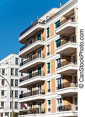 Modern apartment building in Berlin - Modern apartment...